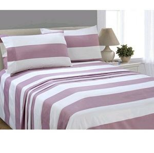 Other - Mauve Stripe Microfiber King Sheet Set